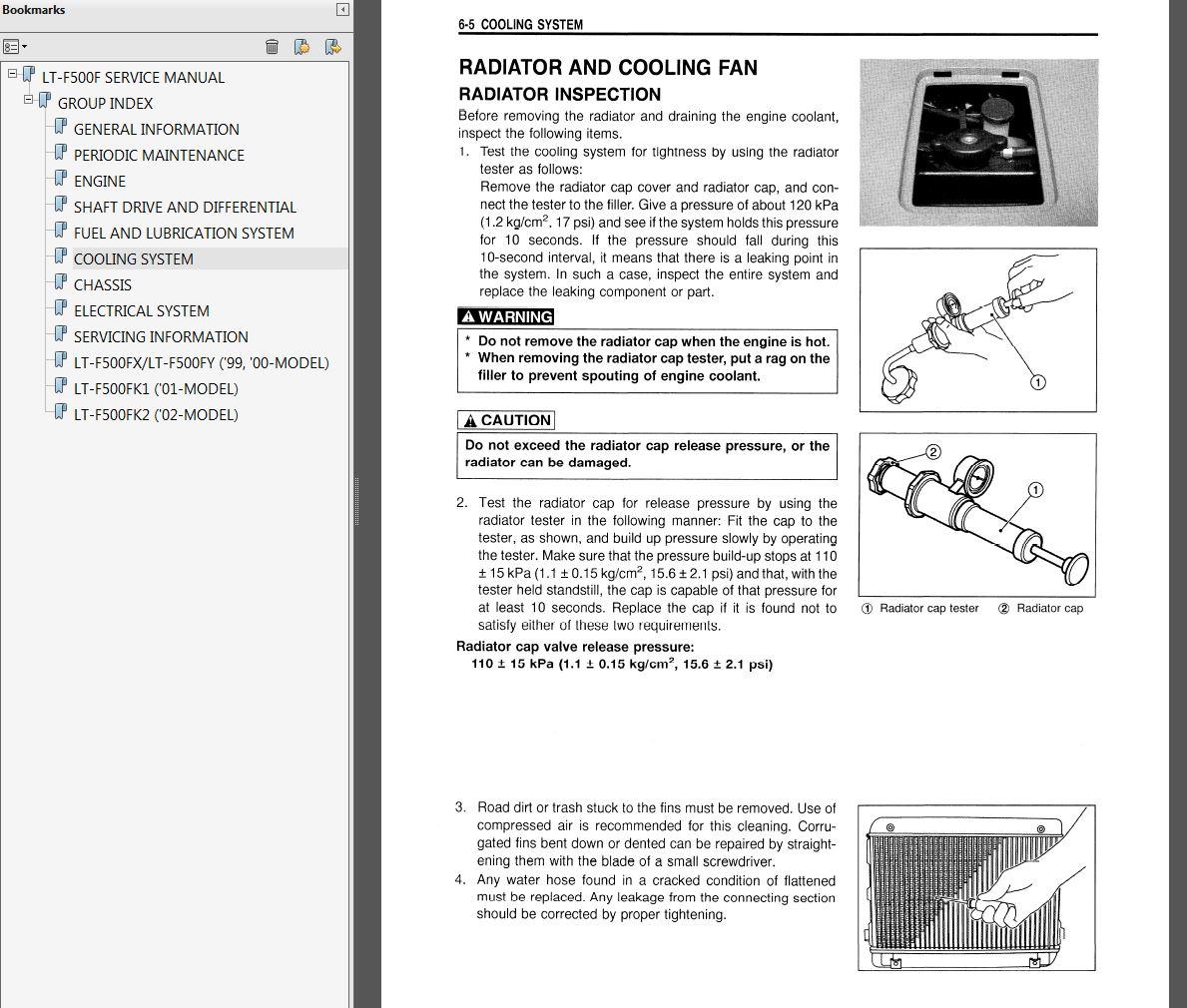 1998 2002 suzuki lt f500f quadrunner service manual