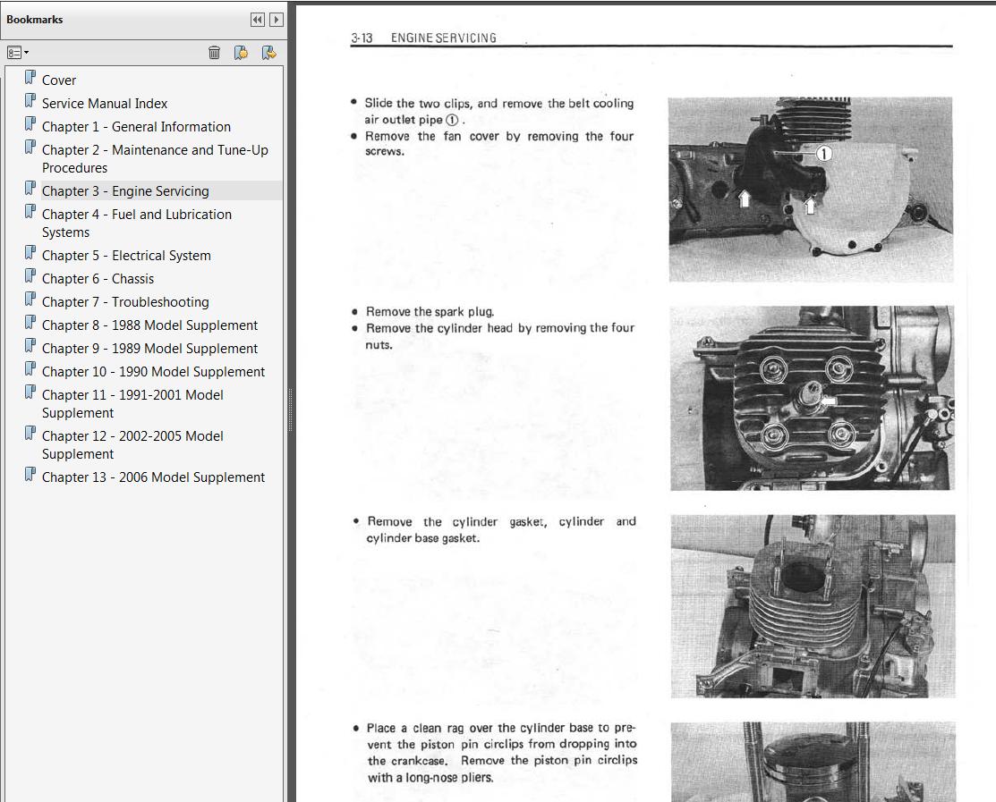 1987-2006 Suzuki LT80 Quadsport Repair Service Manual