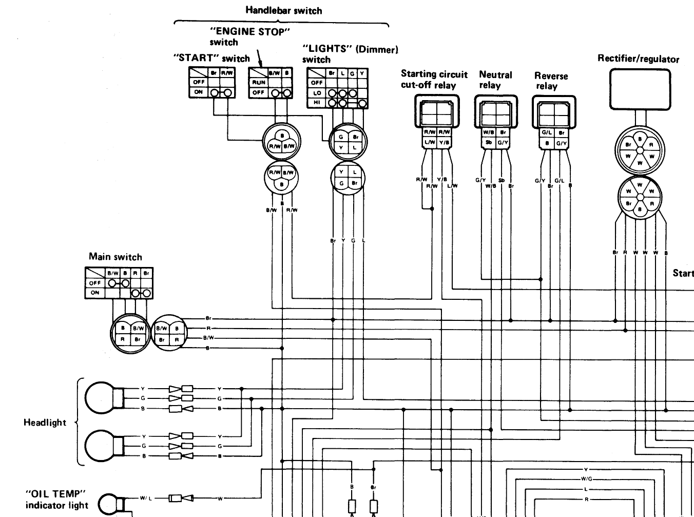 sample21 yamaha yfm350xp warrior atv wiring diagram and color code 1999 yamaha big bear 350 wiring diagram at beritabola.co